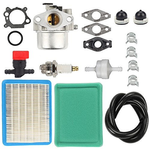 (Harbot Carburetor Tune-up kit with Air Fuel Filter Line Shutoff Valve for Briggs& Stratton 794304 796707 799866 790845 799871 Craftsman Toro)