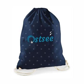 aae339a3e7338 Statement-Turnbeutel Ostsee  quot mit vielen kleinen Sternen quot  Gym-Bag  Rucksack Hipster