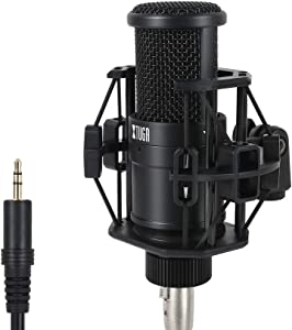 XTUGA Y-1 Cardioid Condenser Studio XLR Microphone,Recording Microphone, Ideal for Laptop MAC or Windows Home Studio Applications Streaming Broadcast and YouTube