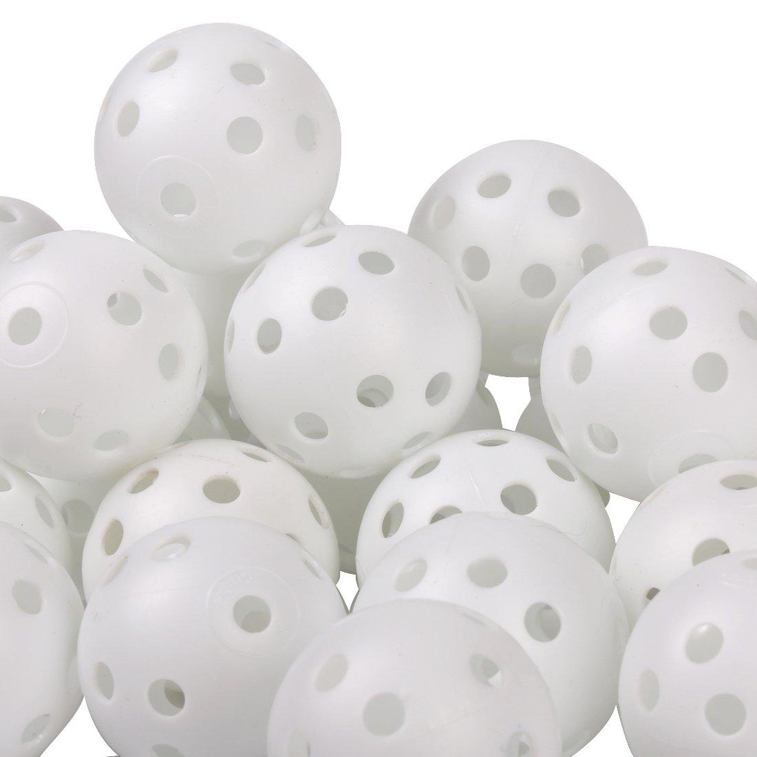 Andux 100 Golf Plastic Practice Balls White KXQ