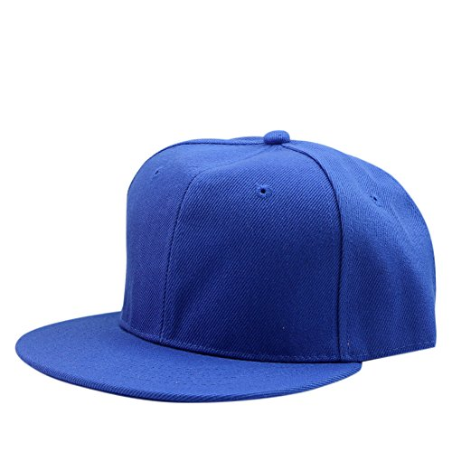 [MEXUD Blank Plain Snapback Hats Baseball Cap Unisex Men's Hip-Hop Adjustable B-boy (Royal Blue)] (Baseball Bat Man Costume)