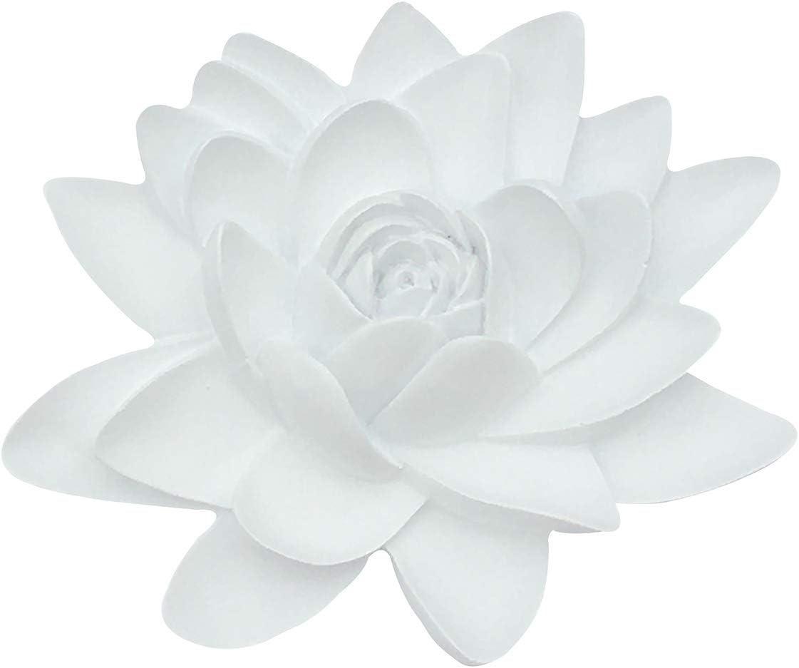 Artgenius Resin Lotus Flower Wall Decor,3D Flower Wall Hanging Decor Modern Art Flowers Decor for Home,Office (White, M)