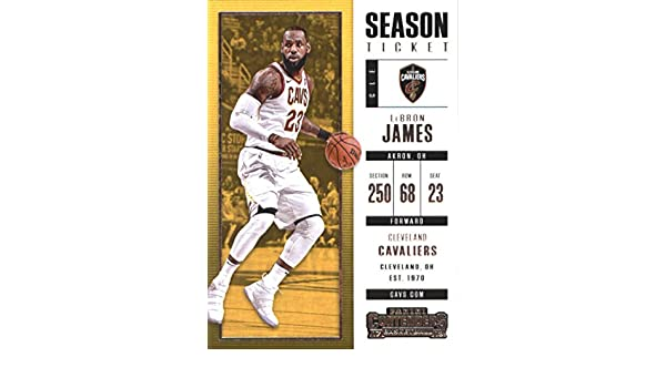2017-18 Panini Contenders Season Ticket #20 LeBron James Cleveland Cavaliers Basketball Card