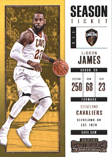 2017-18 Panini Contenders Season Ticket (Base) #20 LeBron James Cleveland (Ticket Base)