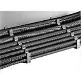 Reiku - PARAB-23G - Corrugated Loom Tubing, Corrugated Tubing Inside Dia.: 0.875, Black, Length: 164 ft.