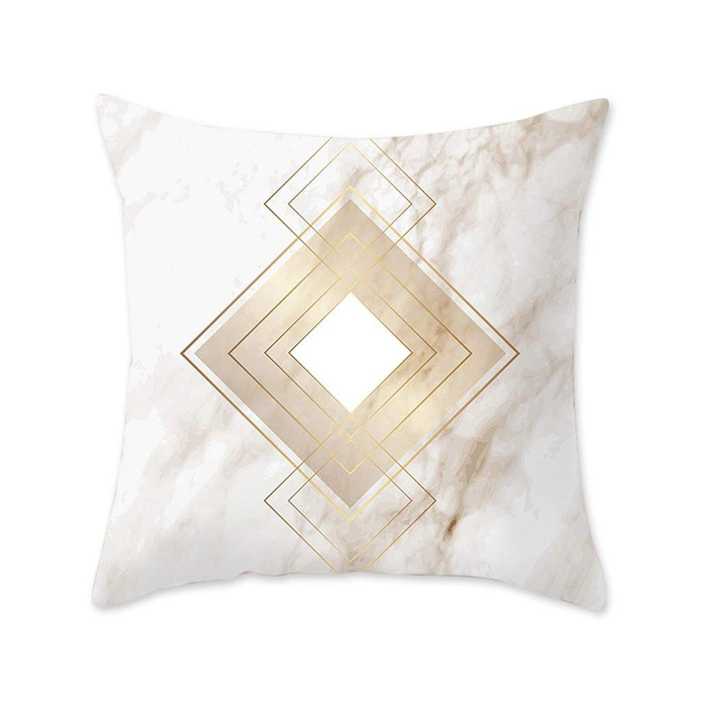 Pet1997 Multicolor Geometric Marble Texture Throw Pillow Case, Super Soft Pillowcase, Cushion Cover, Sofa Home Decor, Luxury Bedding,18 X18 Inch (I)