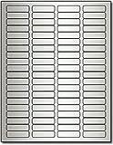 """Silver Foil Return Address 1/2"""" x 1 3/4"""" Labels for Laser Printers - 800 labels"""
