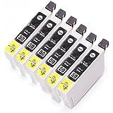 【むさしのメディアオリジナル】EPSON互換インク ICBK50 6個セット インクカートリッジ *ICチップ(残量表示機能)付き [フラストレーションフリーパッケージ(FFP)]