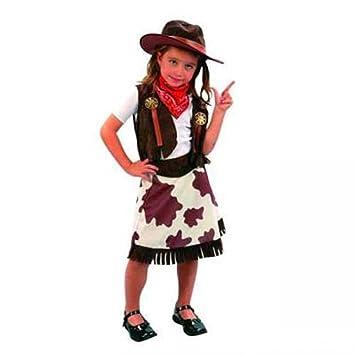 3 Niña Talla Cowboy Años Disfraz 4 2HEID9