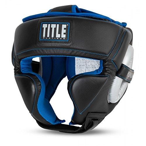 - Title Boxing TITLE Platinum Perilous Training Headgear, Black/Silver/Blue, Regular