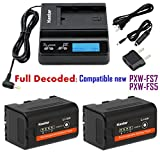 Kastar Fast Charger and BP-U30 Battery (2X) for Sony BP-U90 BP-U60 BP-U30 and PXW-FS7/FS5/X180 PMW-100/150/150P/160 PMW-200/300 PMW-EX1/EX1R PMW-EX3/EX3R PMW-EX160 PMW-EX260 PMW-EX280 PMW-F3/F3K/F3L