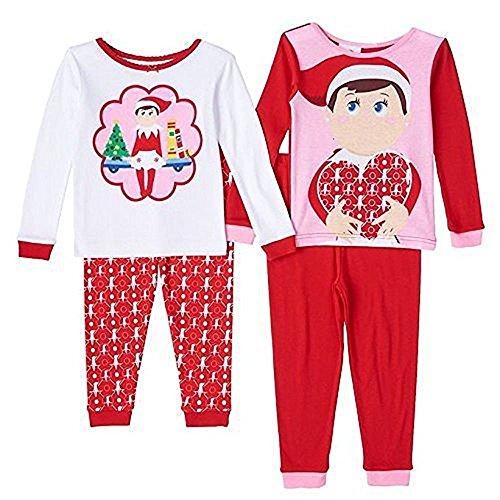 Elf on a Shelf Heart Girl's Pajama Set