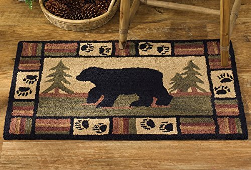 Park Designs Adirondack Bear Hooked Rug 24X36, 24 x 36