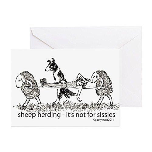 Sheep Note - CafePress - Sheep Herding - Greeting Card, Note Card, Birthday Card, Blank Inside Glossy