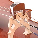FidgetFidget Durable Heavy Cello Practice Mute Portable 4 String Silver Zinc Alloy Cello Mute
