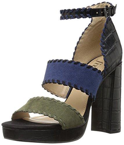 The Fix Womens Garza Whipstitch Platform Dress Sandal  Black Green  8 B Us