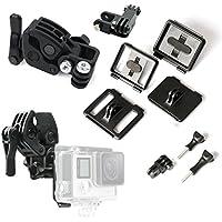 ASOCEA Sportsman Mount Kit, Universal Gun/Rifle/Fishing Rod/Bow Fixing Clip Clamp Mount Set For GoPro Hero 4 Silver Hero 4 Hero 3+ Hero 3 2 1 Cameras