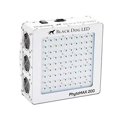 Black Dog LED PhytoMAX 200 Grow Lights - High Yield - Full Spectrum Indoor Grow Light with BONUS Quick Start Guide