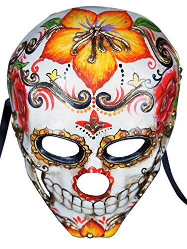 Venetian Full Face Mask Teschio Flor for Men