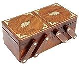 ITOS365 Handmade Wooden Jewelry Box/Case/Storage for Women Jewel Organizer Gift Items