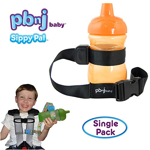 PBnJ Baby SippyPal Sippy Cup Strap Holder Leash Tether (1 Black - Cup Strap Sippy
