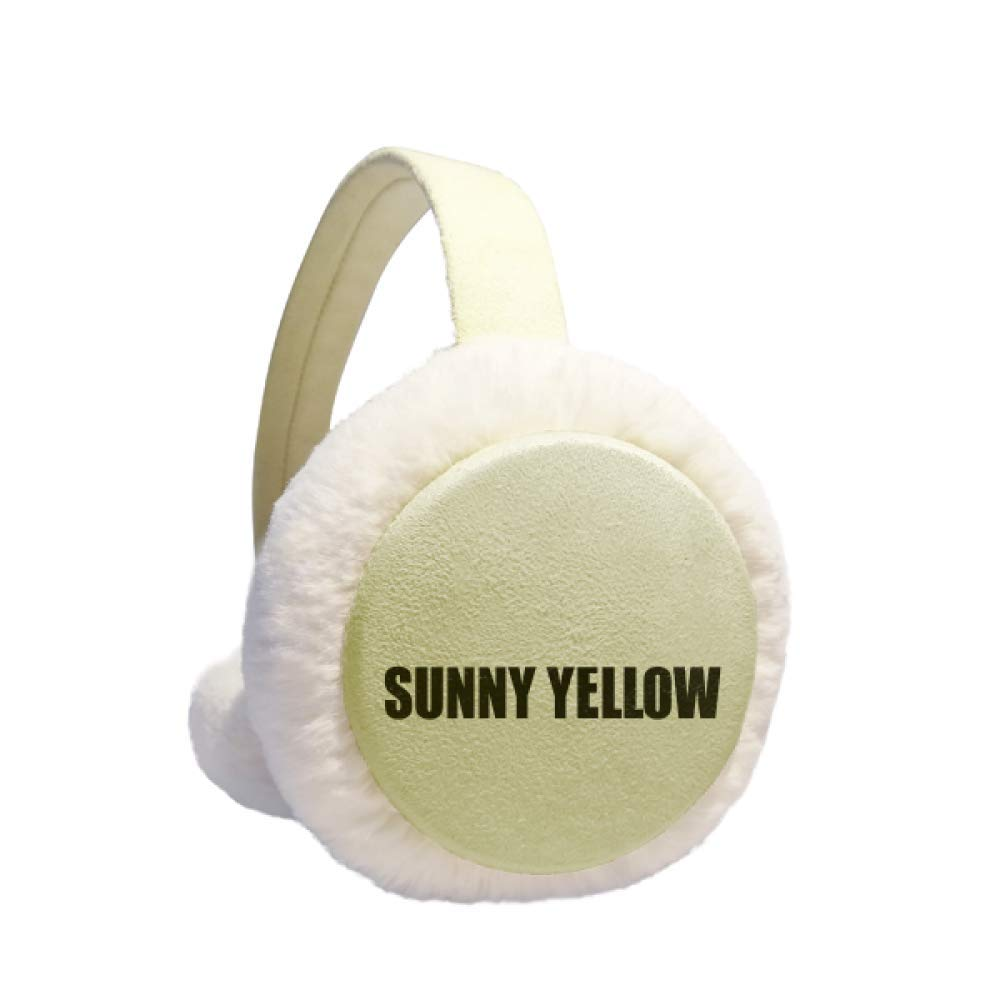 Sunny Yellow Color Name Winter Warm Ear Muffs Faux Fur Ear