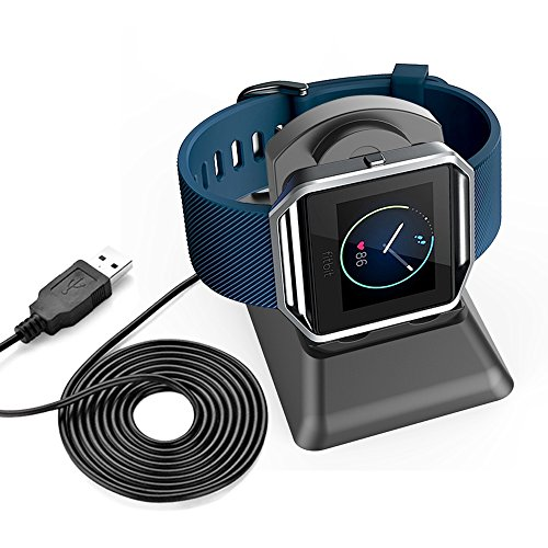 Fitbit Blaze Charger, iRainy Replacement Charging Stand Dock Station