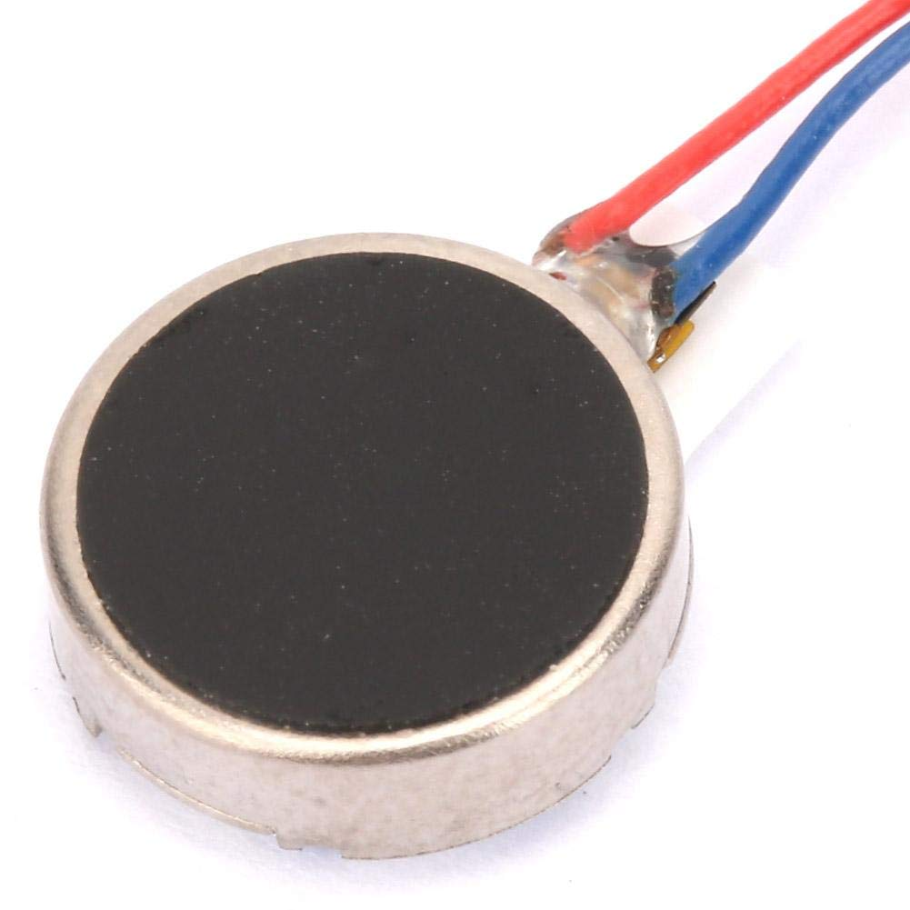 30mm 5pcs DC 3V 80mA Mini motores de vibraci/ón 11000RPM 1020 Flat Coin Button-Type Micro DC Vibrating Motor Para Tel/éfono Celular M/óvil y Buscapersonas