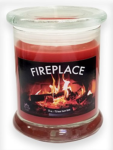 Fireplace Scented Candle (Fireplace Fireside Natural Scented Soy Wax 12oz Candle ~ Aromatherapy Soy Candles Burn Longer ~ Non-Toxic ~ 100% Yinzer Made in USA ~ Gift For Special Occasions ~ S&M Web Widgets)