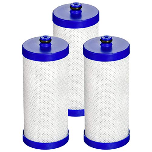 AQUACREST Replacement Refrigerator Water Filter, Compatible with WF1CB, WFCB, RG100, NGRG2000, WF284, 9910, 469906, 469910 (Pack of 3) (Source Pure Water Wfcb Filter)