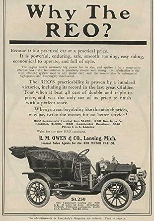 Amazon com: 1908 Premier Touring Car NYC NY Auto Ad Reo