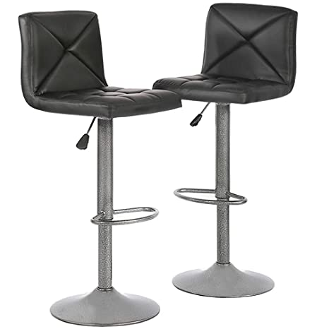 Fantastic Bar Stools Barstools Bar Chairs Height Adjustable Modern Swivel Stool With Back Counter Stools Pu Leather Dinning Chairs Set Of 2 Renewed Gamerscity Chair Design For Home Gamerscityorg