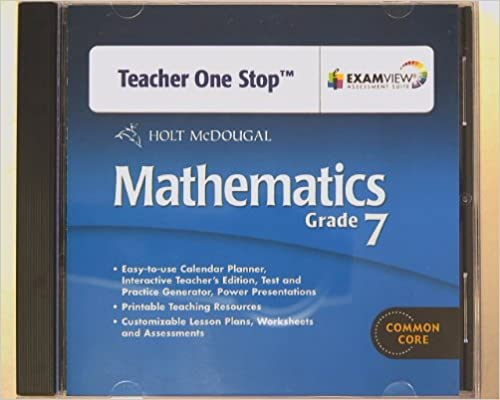 Amazon.com: Holt McDougal Mathematics Teacher's One-Stop Planner ...