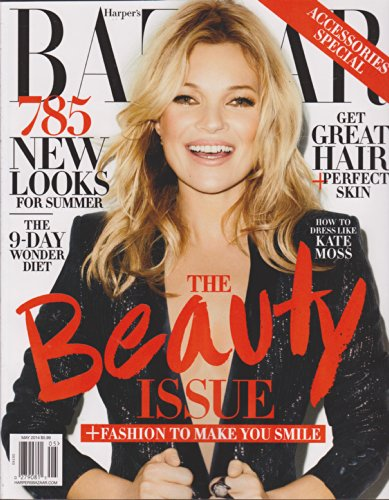 Harper's Bazaar Magazine May 2014 (Double Cover) Kate Moss Front Cover / Carine Roltfeld Back Cover, the 2014 Beauty Issue