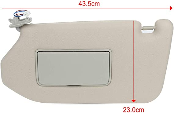 OE:96401-9PB0A,96400-9PB0A SCITOO Tan Beige Left /& Right Interior Sun Visor fit for Nissan Pathfinder 2013-2019 Infiniti QX60 2014-2017 Infiniti JX35 2013 with Sunroof