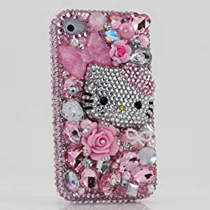 hello kitty iphone case 3d swarovski pink hello kitty bling 8737