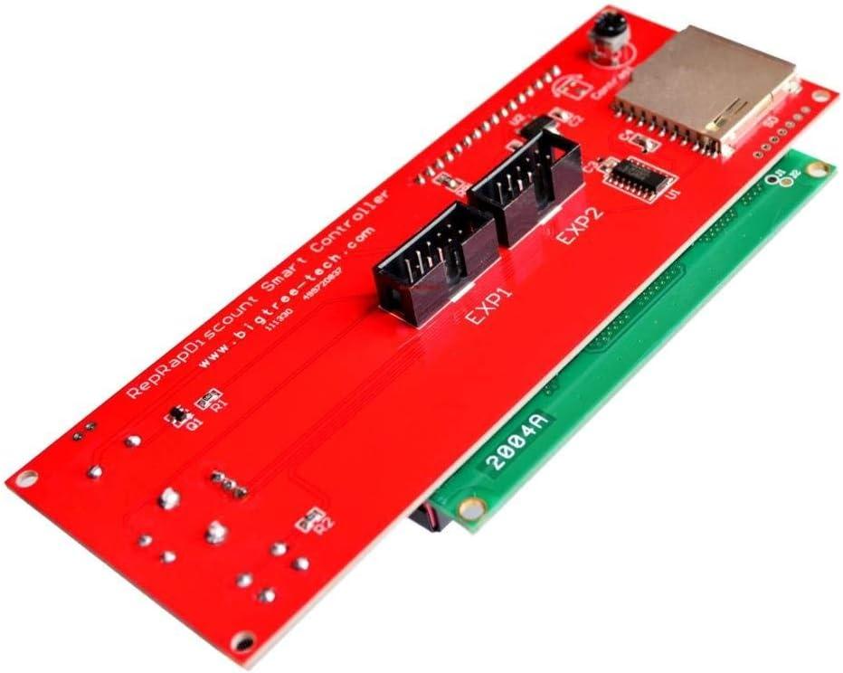 ICQUANZX 2004 LCD-Smart-Display-Controller-Modul mit Adapter f/ür RAMPS 1.4 Arduino Mega Pololu Shield 3D-Drucker-Controller-Kit Zubeh/ör