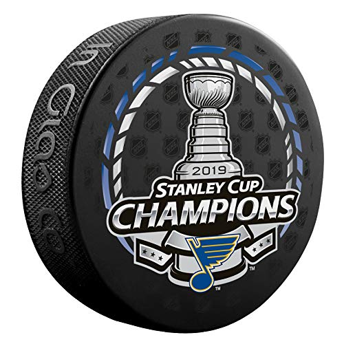In Glas Co 2019 Official Stanley Cup Champions ST Louis Blues Champ Puck (Louis Blues Fan)