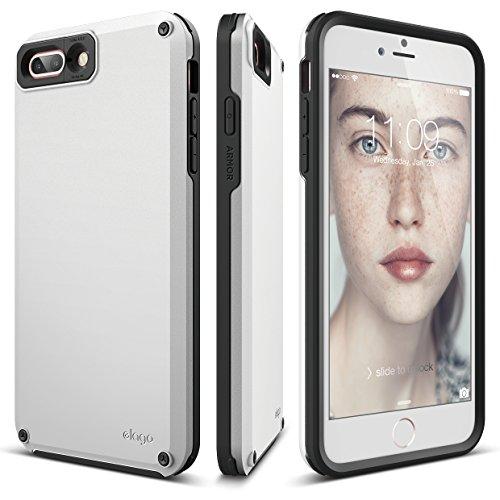elago iPhone 8 Plus / iPhone 7 Plus Case [Armor][White] - [Military Drop Test Certified][Secret Pocket][Anti-Shock] - Nfl White Charms