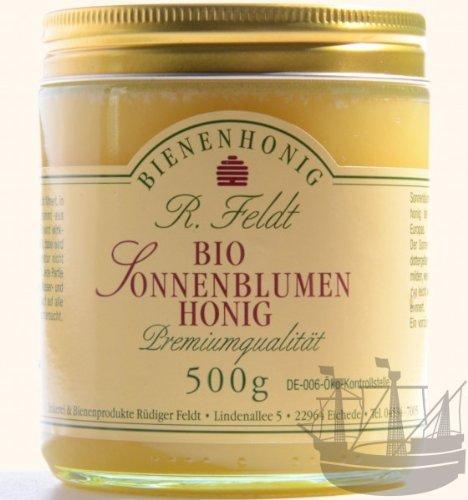 Sonnenblumen BIO Honig, sonnengelb, cremig, mild-würzig, 500g