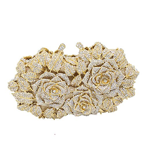 Dazzling Flower Crystal Evening Bags...