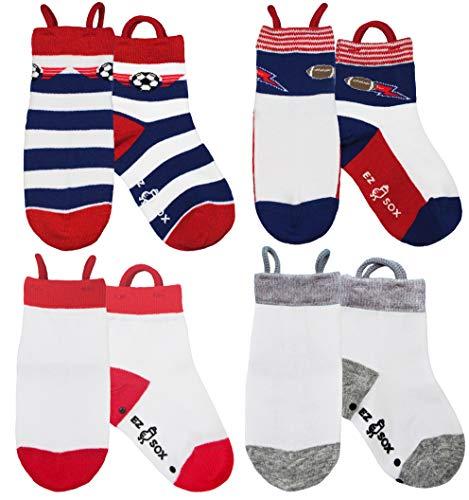 Boys Socks, Non Skid Grippers, Seamless, Soccer-Football logo, 5-9 yr ()