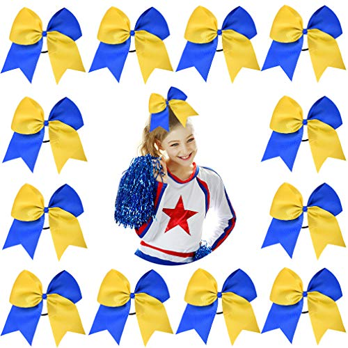 How to buy the best cheer bows royal blue and yellow?