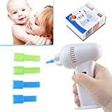 Flashmen Cordless Ear Wax Vacuum Cleaner Remover Clean Removal Painless Tool with Safe Hygenic Silicone Nozzles