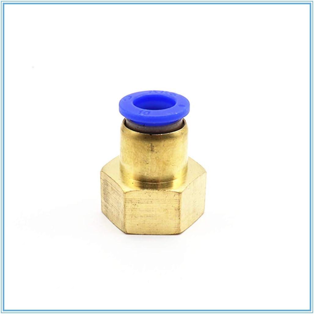 Couleur : PCF 10mm , Taille : 1//2 FSM Adaptateurs 1pc Air Pipe Fitting 10 mm 12 mm 8 mm 6 mm Tuyau de 1//8 3//8 1//2 1//4 BSP filetage femelle en laiton pneumatique raccord rapide Raccord Joint