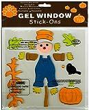 Nantucket Home Fall Scarecrow Gel Window Clings