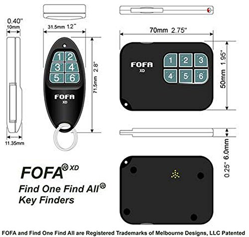 2-Way RF FOFA® Find One Find All® Key Finder and Flat Wallet,...