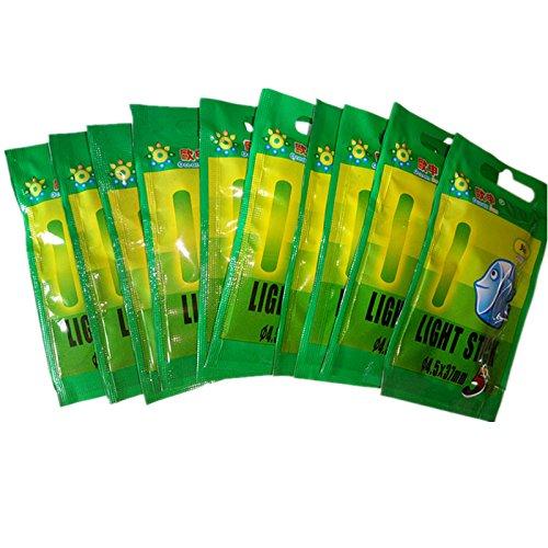 Green Single Transparent Rod - 10 Bag 4.537mm Luminous Float Glow Stick Night Fishing Green Fluorescent Light