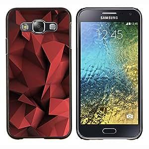- polygon pattern maroon black - - Modelo de la piel protectora de la cubierta del caso FOR Samsung Galaxy E5 E500 RetroCandy