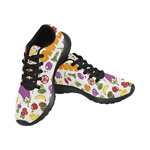 InterestPrint Womens Road Running Shoes Jogging Lightweight Sports Walking Athletic Sneakers Fruits